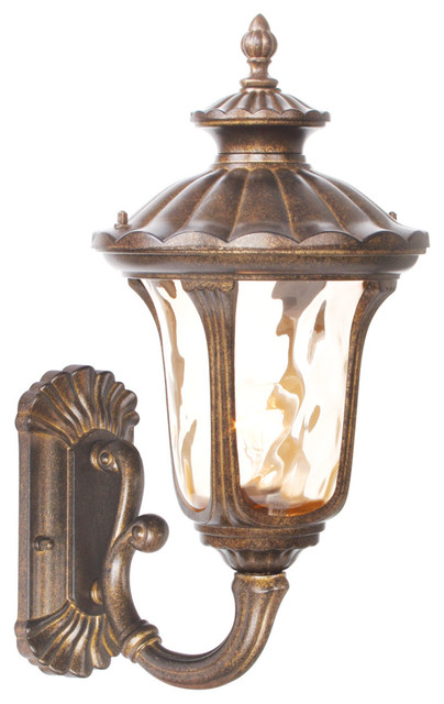 Exterior Wall Sconces Traditional : Livex Lighting 7652-50 Outdoor Sconce Oxford, Moroccan Gold/Light Amber Water - Traditional ...