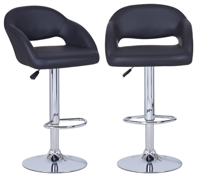Adeco Black Hydraulic Lift Adjustable Barstool Low Cut Out  : contemporary bar stools and counter stools from houzz.com size 640 x 574 jpeg 39kB