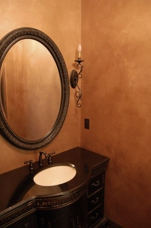 Lusterstone Powder Room Philadelphia Di Luxe Walls Llp