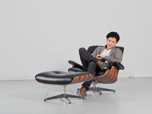 Eames lounge chair ottoman replica moderne fauteuil for Fauteuil eames imitation
