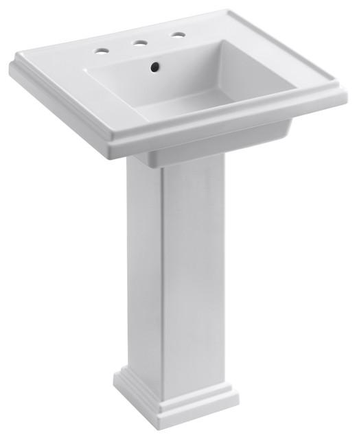 "KOHLER K-2844-8-0 Tresham 24"" Pedestal Lavatory ..."