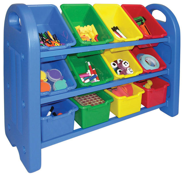 Ecr4Kids Home Kidsroom Decorative 3 Tier Toy Storage ...