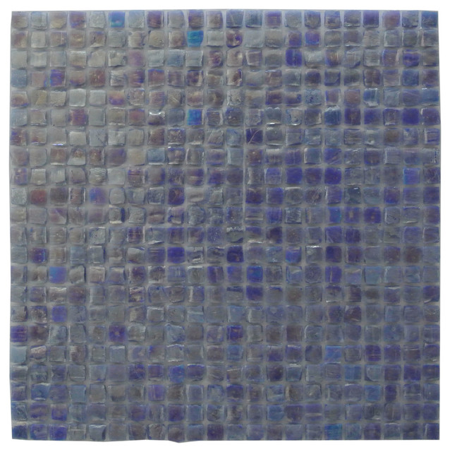 Purple Blue Recycled Glass Mosaic Tile Bathroom Wall Backsplash Sample Contemporary Mosaic