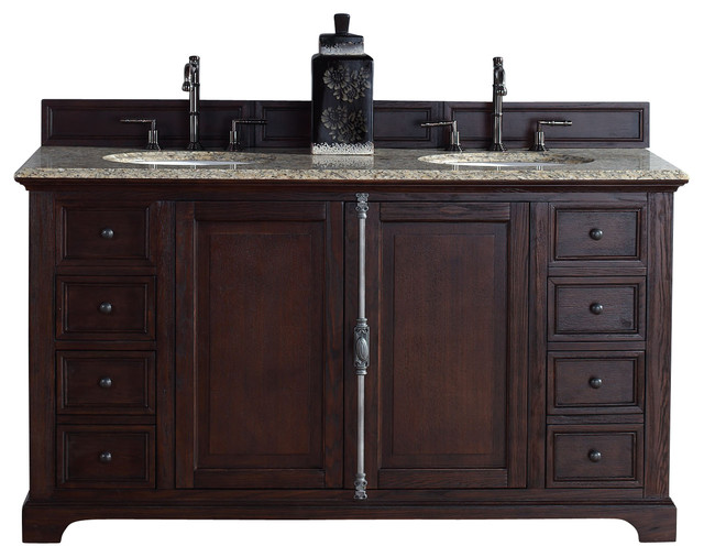 James Martin Providence 60 Double Vanity Cabinet Sable