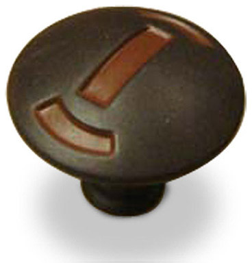 Zinc Die Cast - Knob - Olde Iron Rust (CENT25115-OI) - Cabinet And Drawer Knobs - by Knobbery ...