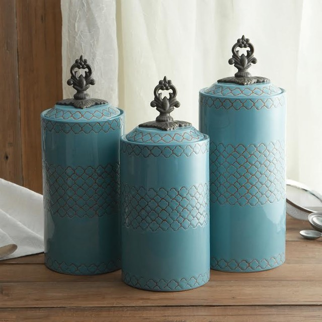 american atelier blue canister set set of 3 stainless and acrylic canisters set of 4 modern
