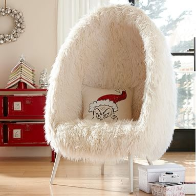 Furlicious egg chair living room chairs by pbteen - Chair for teenage bedroom ...