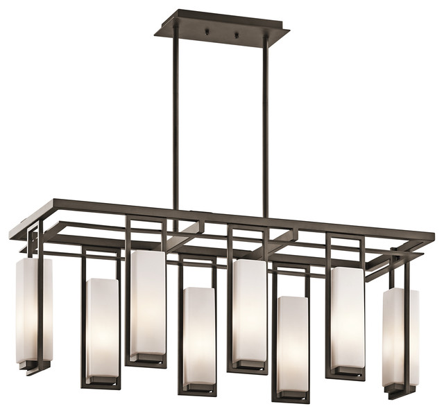 Linear Chandeliers Perimeter 42935OZ Modern Chandeliers Cleveland on kitchen lighting before and after