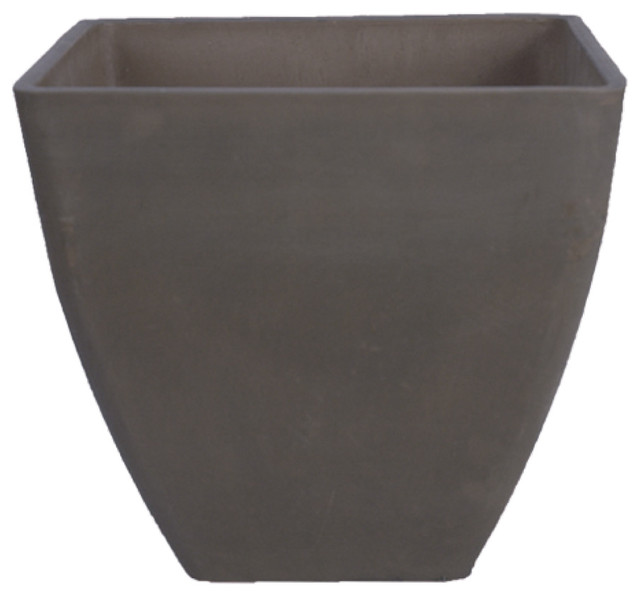 Simplicity Square Pot Dark Charcoal Large Modern