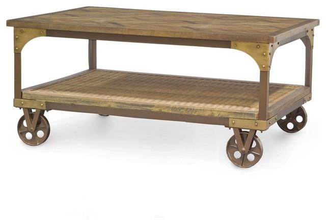 Palecek tortola coffee table farmhouse coffee tables for Palecek coffee table