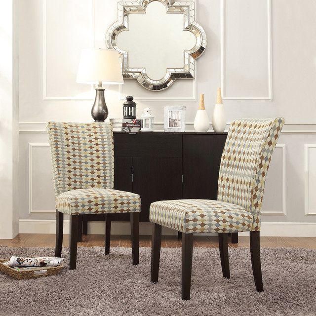 Inspire q catherine diamond impressions parsons dining for Inspire q dining room chairs