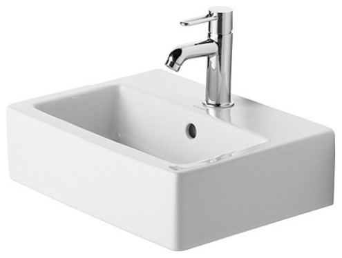 Duravit Vero Wall-Mounted Square Handrinse Basin - Modern - Bathroom ...