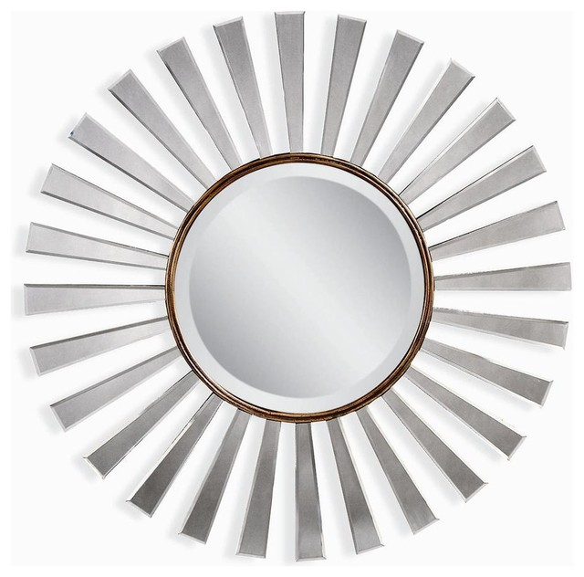 Traditional Round Wooden Wall Mirror Modern Wall