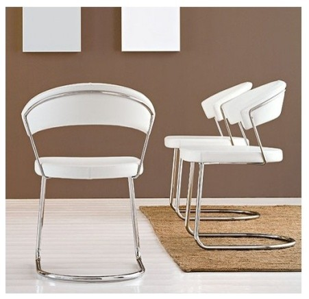 new york leather chair by calligaris contemporary dining chairs