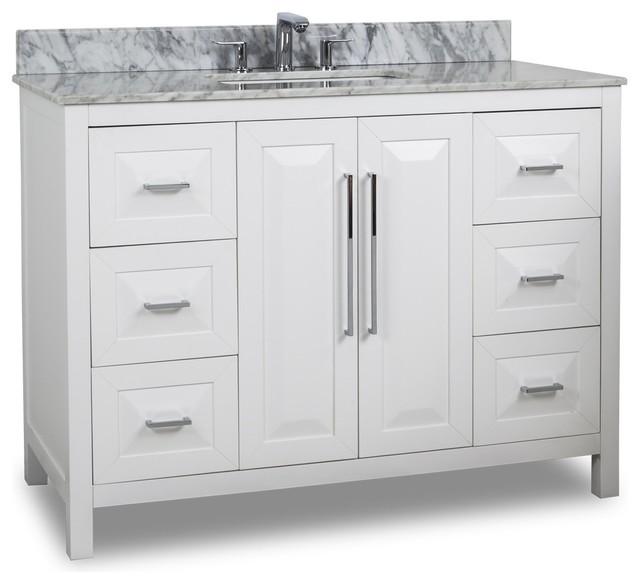 Cade Contempo  Vanity Van  T White With Top Modern Bathroom