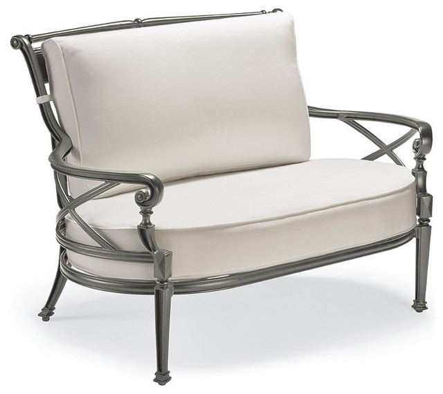 Carlisle Oversized Cuddle Lounge in Gray Finish Traditional Outdoor Loung