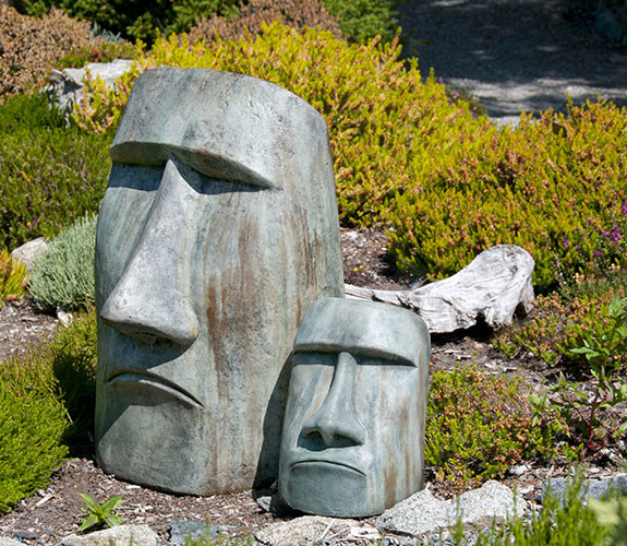 Rapa Nui Face Contemporary Garden Statues And Yard Art