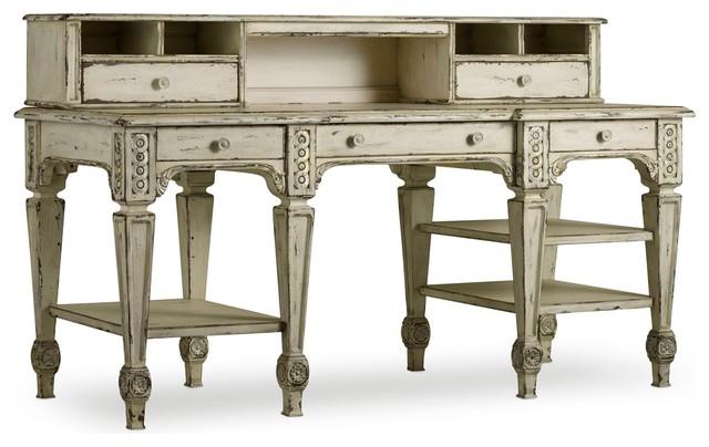 Hooker Furniture La Maison Writing Desk With Hutch, Off