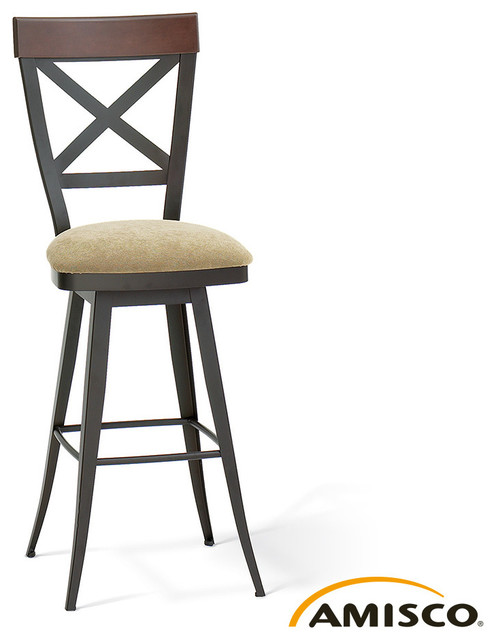 Amisco Kyle Swivel Stool Modern Bar Stools And Counter