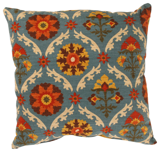 Traditional Throw Pillows : Mayan Medallion 18