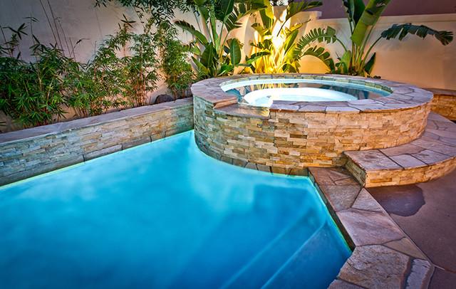 Stone Veneer Modern Pool San Diego By Eco Minded