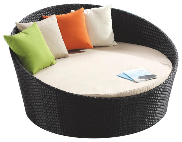 Outdoor Round Bed No Canopy Contemporary Indoor Chaise Lounge Chairs b
