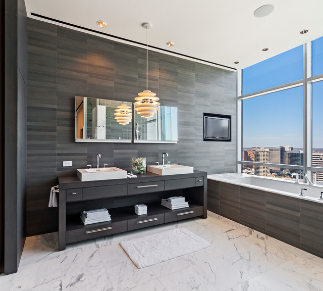 Uptown Penthouse 2 - Modern - Bathroom Vanities And Sink Consoles - dallas - by Mobili Martini