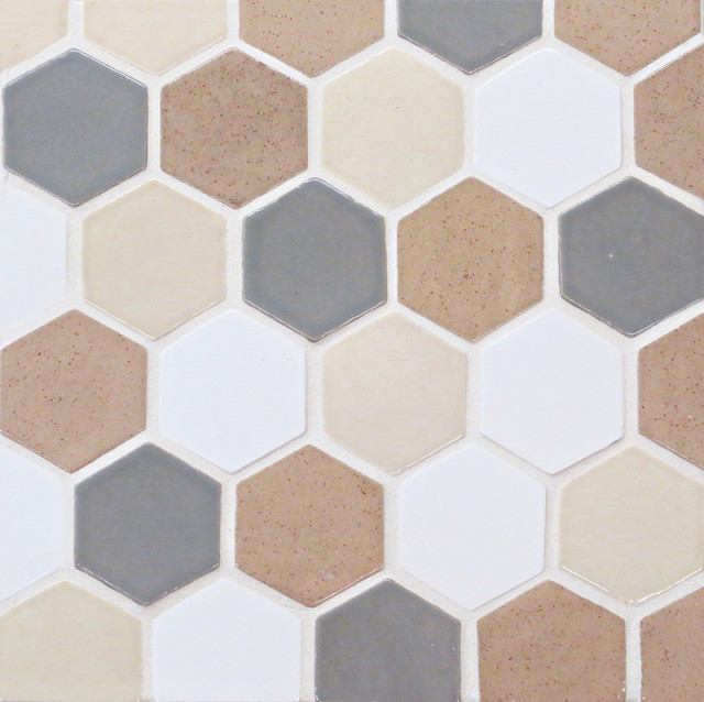 Spice And Deco White Honeycomb Tile Contemporary wall and floor tile