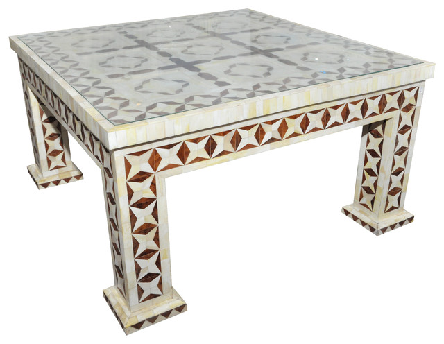 brown bone inlay coffee table coffee tables london by rocomara. Black Bedroom Furniture Sets. Home Design Ideas