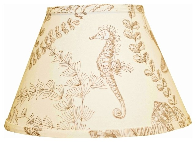 nautical on cream lamp shade 9x16x12 spider beach style lamp shades. Black Bedroom Furniture Sets. Home Design Ideas