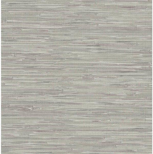 Natalie Grey Grasscloth Print Wallpaper - Wallpaper - by Brewster Home ...