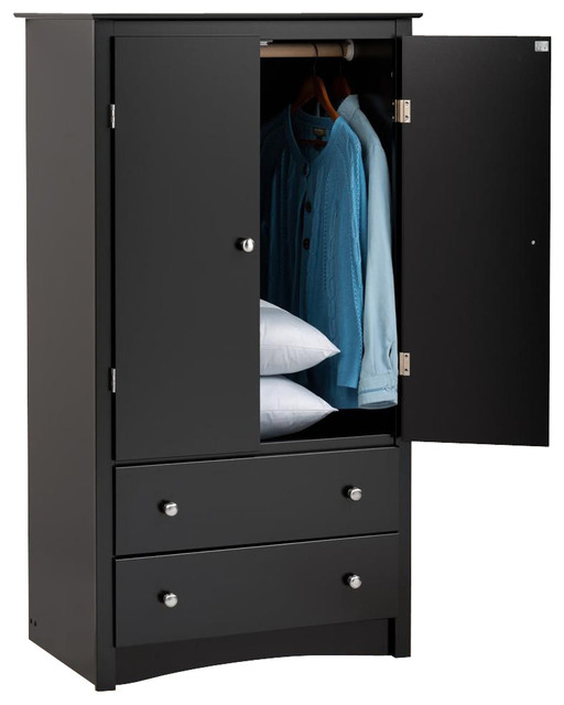2-Door Armoire - Contemporary - Armoires And Wardrobes - by ShopLadder