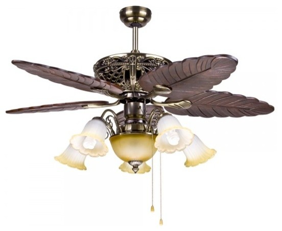 Decorative Tropical Ceiling Fan Light For Living Room