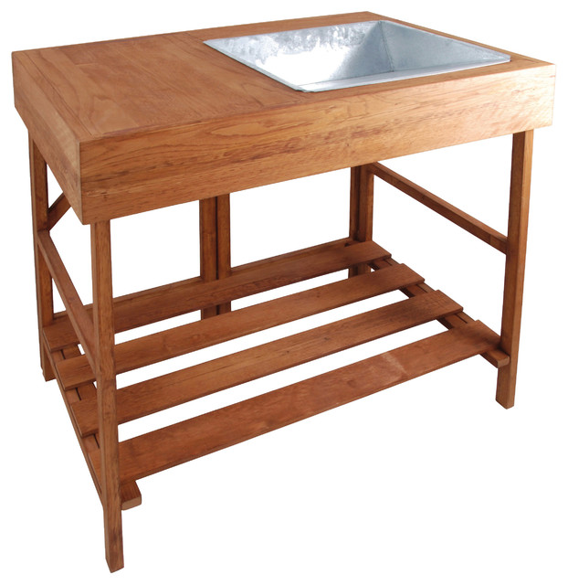 Hardwood Potting Table Traditional Potting Benches By Parpadi