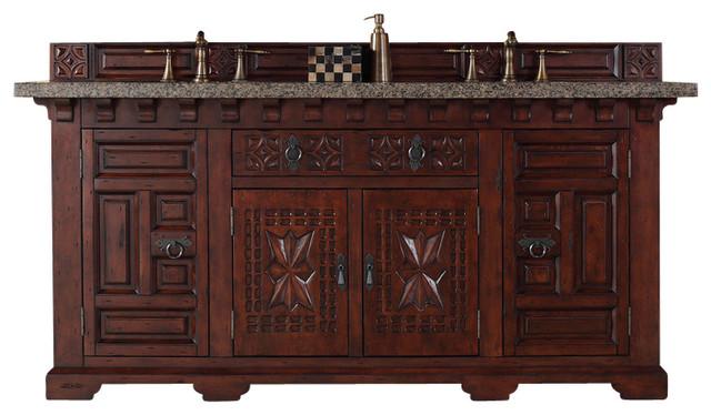 """Mediterranean Bathroom Sinks: Monterey 72"""" Double Vanity Cabinet"""