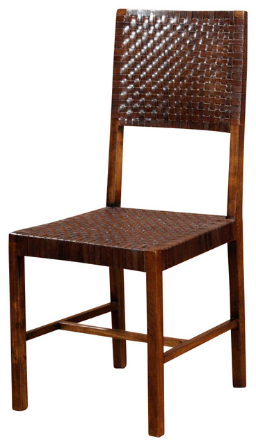 Saddler Wood & Woven Chair - Rustic - Dining Chairs - by William ...