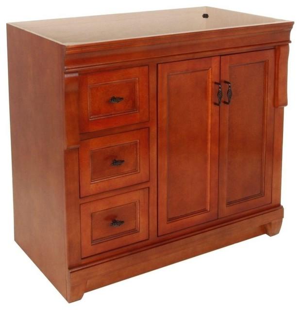 Naples Vanity Cabinet Only Warm Cinnamon 36 Craftsman Bathroom Vanities And