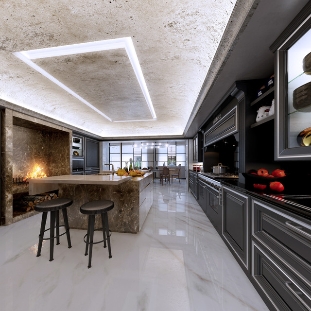 Extrimelly luxury manhattan townhouse contemporary for Luxury kitchen new york