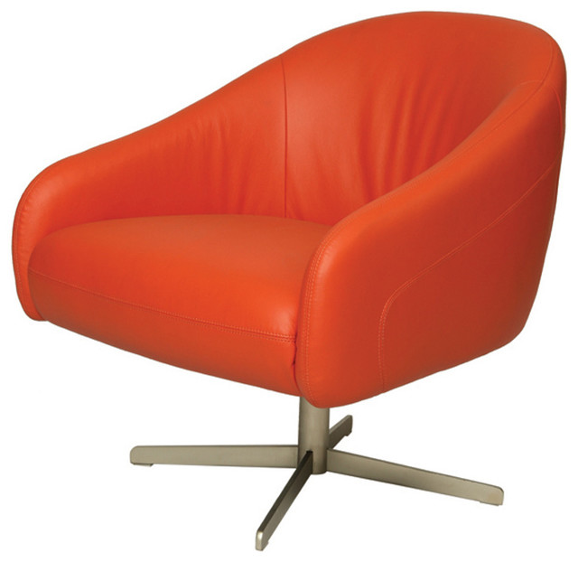 Dawsonville Club Chair DW 171 Orange Contemporary Living Room Chairs