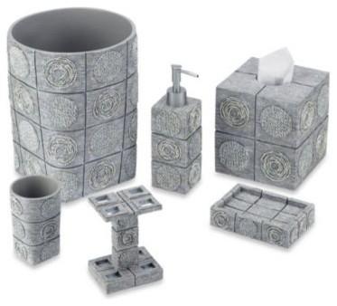 Silver Bathroom Accessories : ... in Silver - Contemporary - Bathroom Accessories - by Bed Bath & Beyond