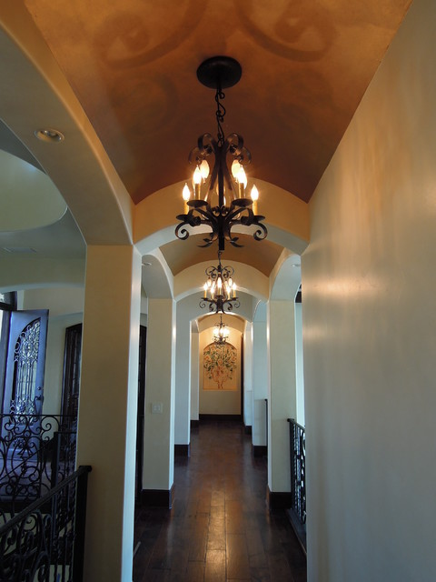 Entry Foyer Lighting Houzz : Hallway entryway and stairway lighting