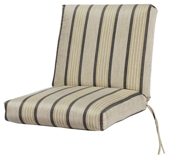 Sunbrella Pebble Outdoor Dining Chair Cushion Contemporary Seat Cushions