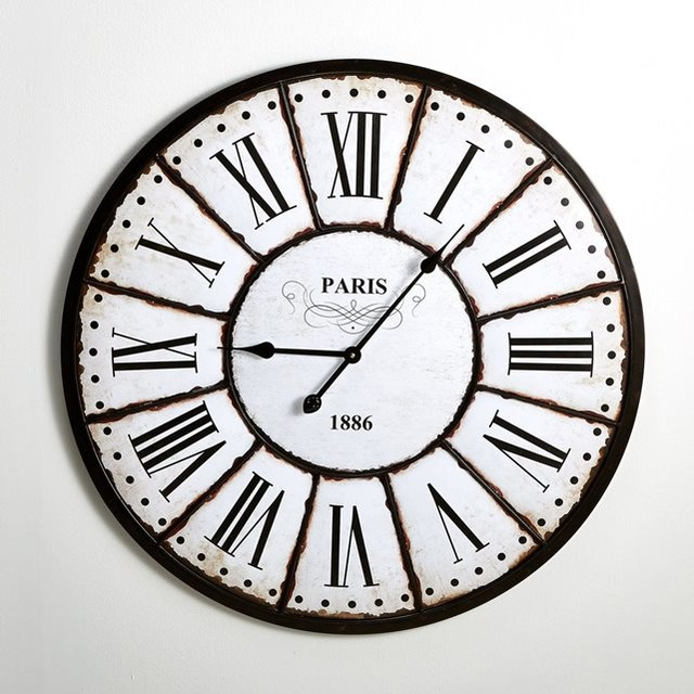 horloge murale style r tro zivos contemporary wall clocks by la redoute int rieurs. Black Bedroom Furniture Sets. Home Design Ideas