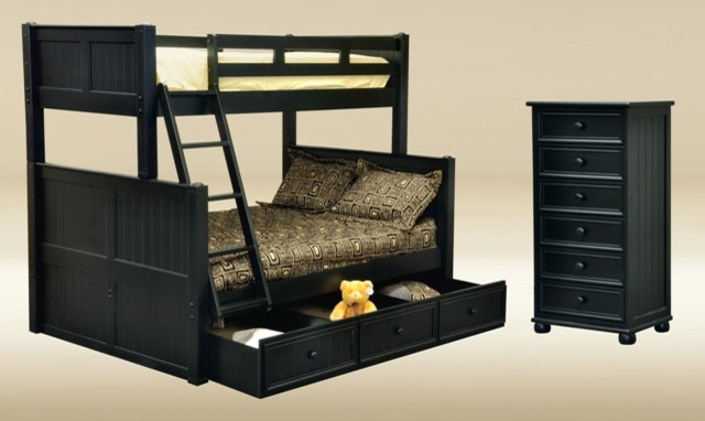 Bunkbed contemporary kids beds los angeles by vons Black bunk beds