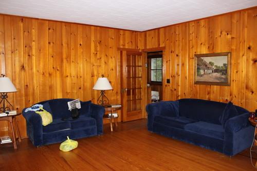 Brighten A Wood Panel Living Room
