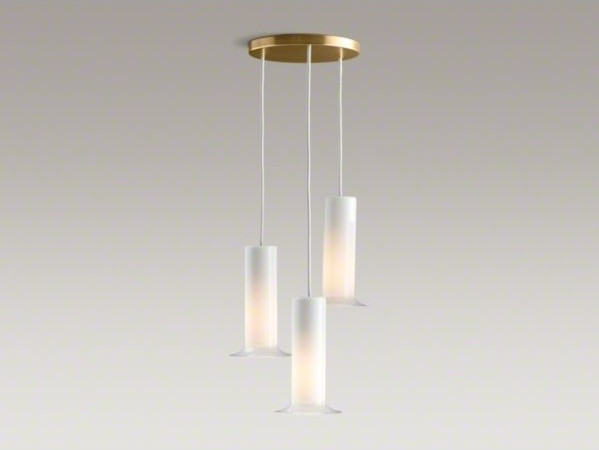 KOHLER Purist(R) triple ceiling-mount pendant - Contemporary - Bathroom Vanity Lighting - by Kohler