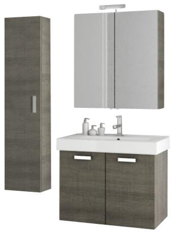inch grey oak bathroom vanity set contemporary bathroom vanities