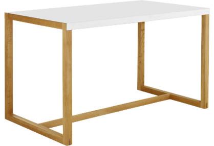 kilo table rectangulaire en m tal et en ch ne massif modern dining tables by habitat officiel. Black Bedroom Furniture Sets. Home Design Ideas