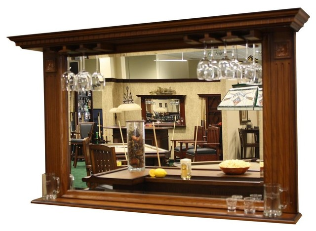 Kokomo Back Bar Mirror w Display Shelf - Contemporary - Wine And Bar Cabinets - by ShopLadder