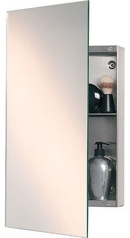 Rectangular mirror and concealed cabinet contemporary for Bathroom cabinets 400mm wide